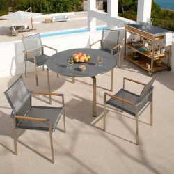 Barlow Tyrie Mercury 4 Seater Dining Set