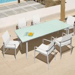 Barlow Tyrie Mercury 6 Seater Dining Set