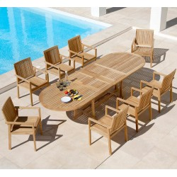 Barlow Tyrie Stirling & Linear 8 Seater Dining Set