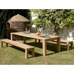 Barlow Tyrie Titan Bench Seating Dining Set