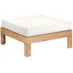 Barlow Tyrie Linear Deep Seating Ottoman with Cushion