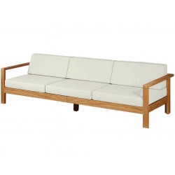 Barlow Tyrie Linear Deep Three Seater Settee with Cushions