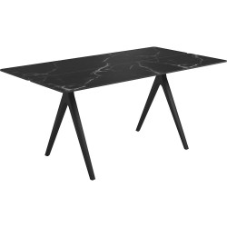 Gloster Split 170 x 92cm Rectangular Table – Meteor Frame with Nero Ceramic Top