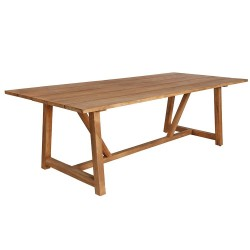 Sika Design George 240 x 100cm Rectangular Teak Dining Table