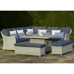 Bramblecrest Monterey Casual Dining Set with Firepit