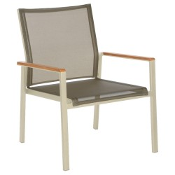 Barlow Tyrie Aura Club Chair - Champagne Frame with Titanium Sling