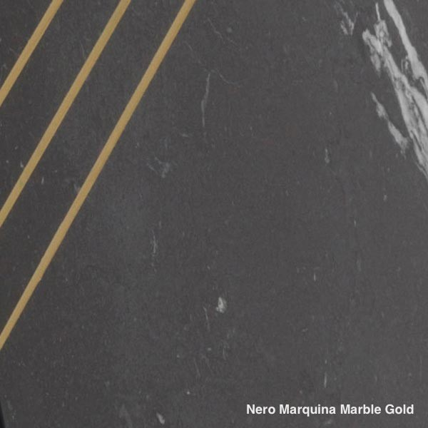 Nero Marquina Marble Gold